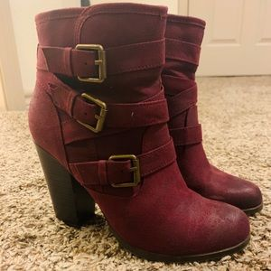 JustFab burgundy/purple booties/ankle boots